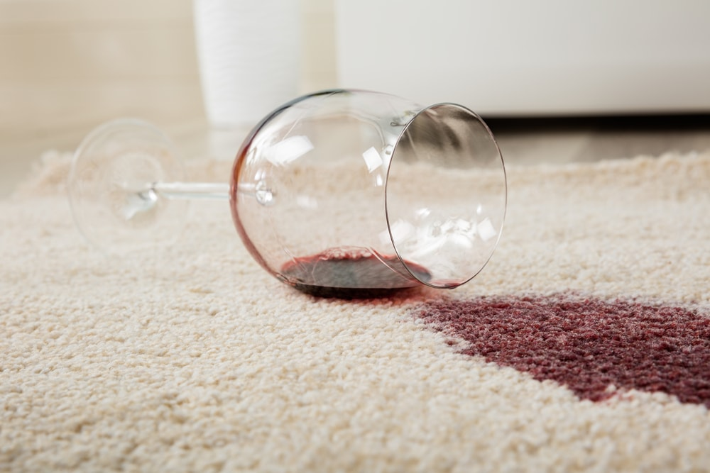How To Remove Wine Stains From Carpet After It Has Dried